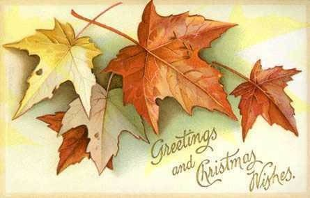 Vintage Fall Postcards Autumn Leaves