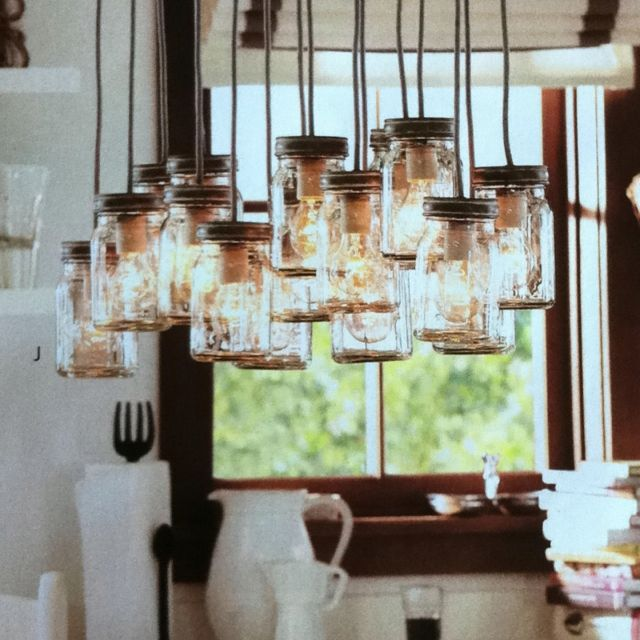 pottery barn light fixture that my sweet husband just hung. Black Bedroom Furniture Sets. Home Design Ideas