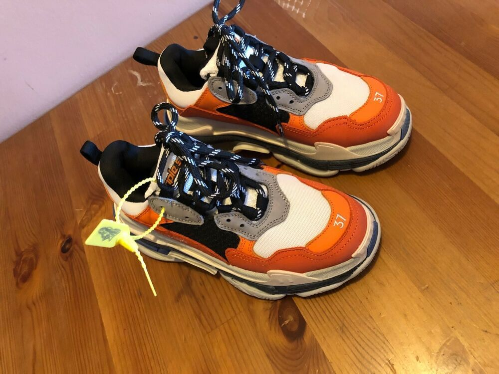 separation shoes 6a015 761a0 Balenciaga triple S 37 size orange  fashion  clothing  shoes  accessories   womensshoes  athleticshoes (ebay link)