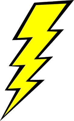 Lightning Bolt In Ancient Mythologies From Many Cultures The Lighting Bolt Would Be Hurled By Male Sky Gods To Punish Water Free Clip Art Clip Art Lightning