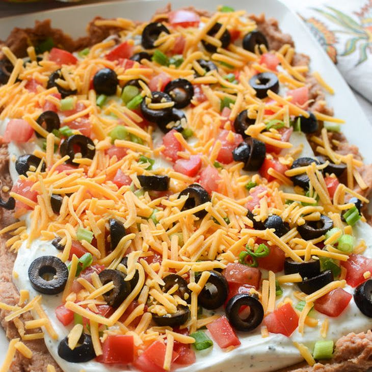 Layered Ranch Taco Dip Recipe Yummly Recipe Taco Dip Recipe Layered Taco Dip Dip Recipes Appetizers