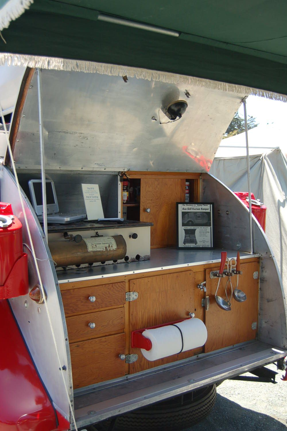 Camper Trailer Kitchen Designs Designs For Teardrop Campers This Is A 1947 Kenskill Teardrop