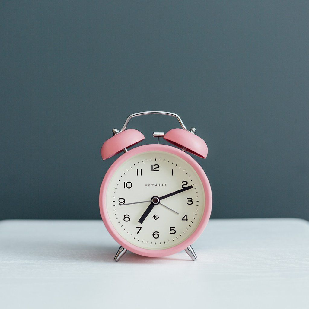 Charlie Bell Echo Alarm Clock In Marshmallow Pink In 2020 Alarm Clock Pink Clocks Vintage Alarm Clocks