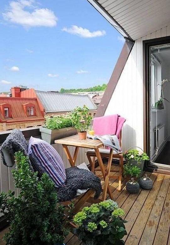 Der Balkon \u2013 unser kleines Wohnzimmer im Sommer Pinterest