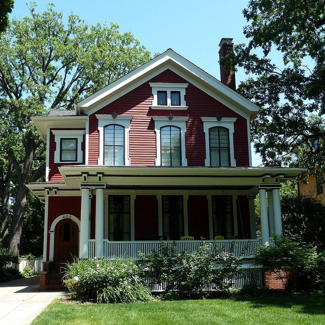 Oak Park, IL, Red Victorian House by lalobamfw, via Flickr