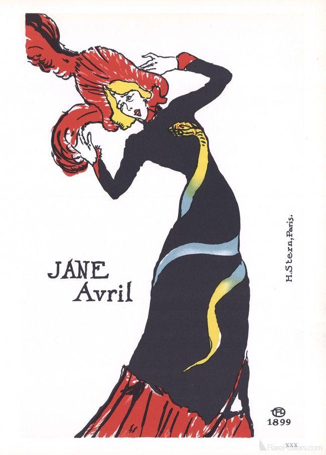 Henri de Toulouse-Lautrec- Jane Avril