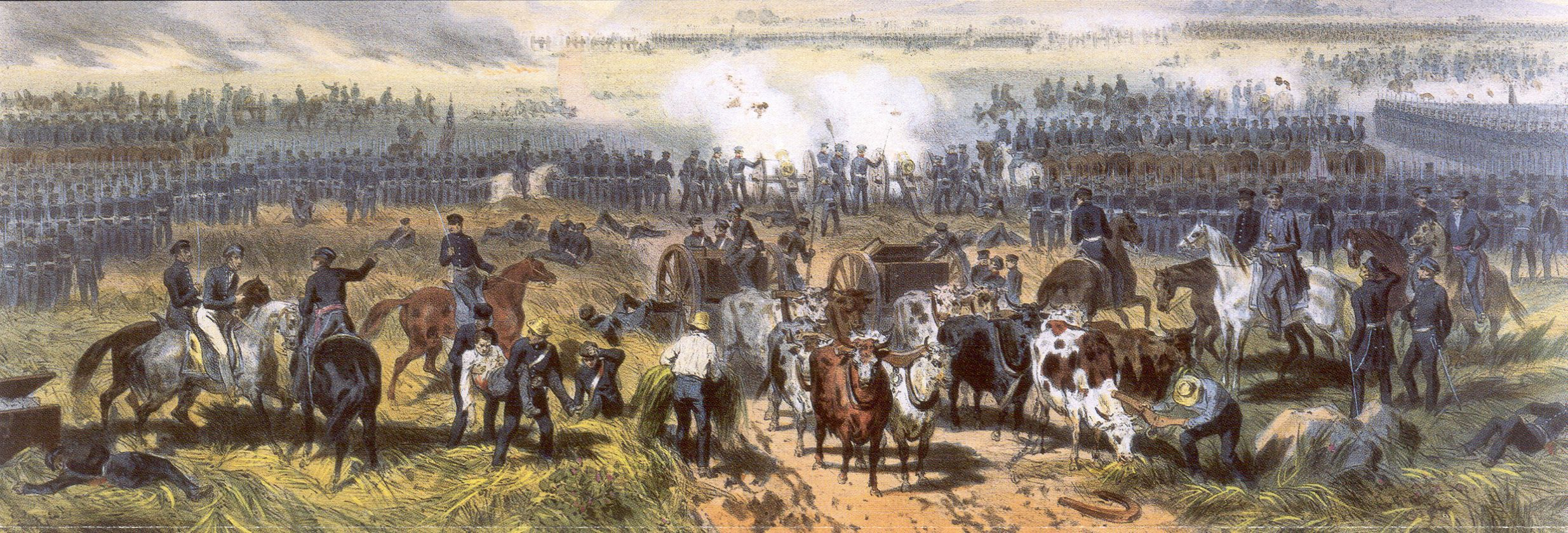 Mexican War 1846 Gen Zachary Taylor On White Horse Right Directs The Battle Mexican American War Mexican War Pictures Of Soldiers