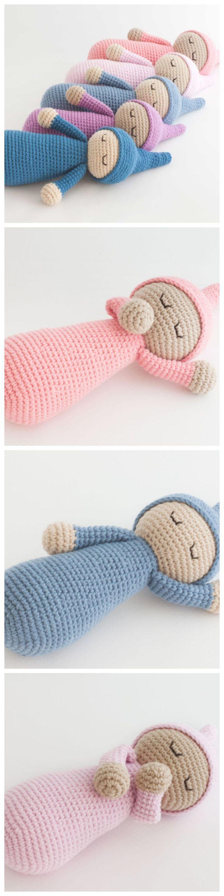 Gehäkelte Schlafmütze Puppe – kostenlose Anleitung #freepattern