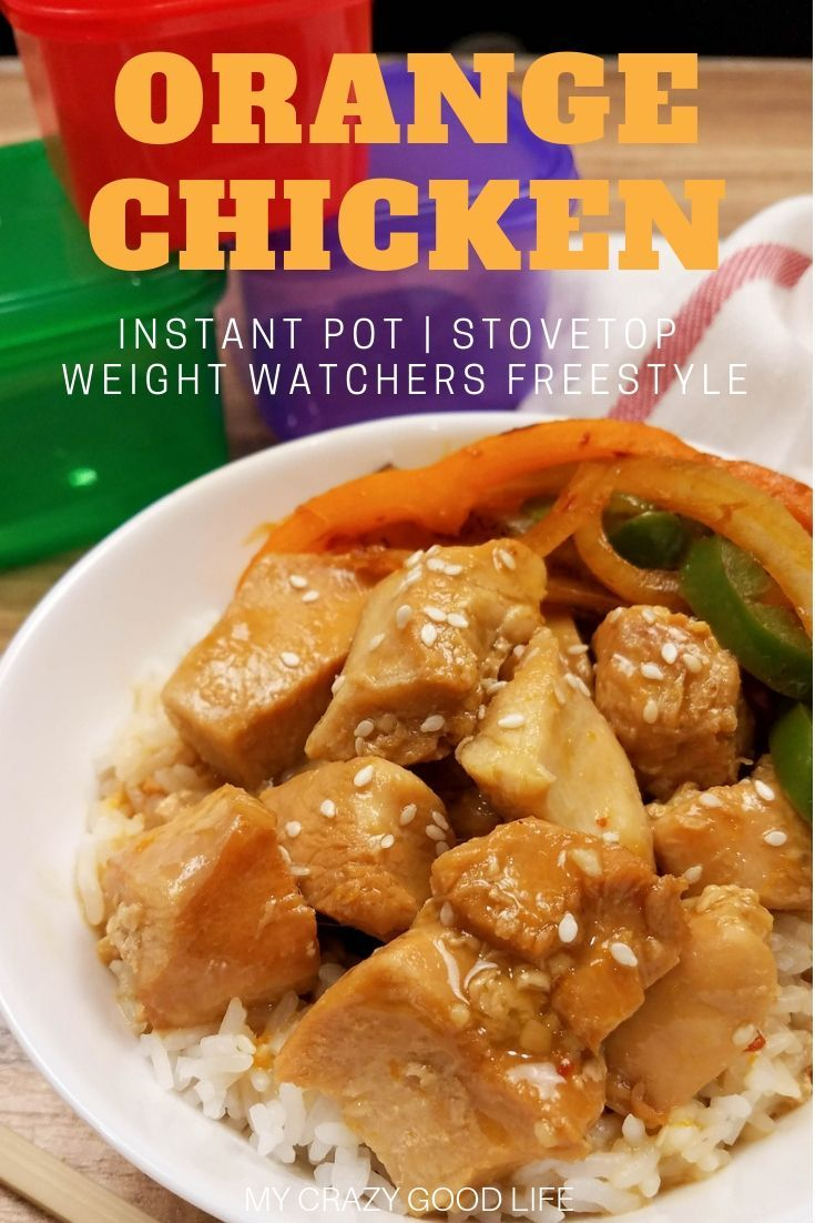 This Weight Watchers Orange Chicken Recipe is delicious! Weight Watchers Chinese recipes help you feel full and satisfied after dinner. Instant Pot Orange Chicken is a great family friendly meal. | Weight Watchers Points | Weight Watchers Instant Pot Recipe | Weight Watchers Instant Pot Dinner Recipes | WW Chinese | Healthy Instant Pot Orange Chicken #weightwatchers #ww #freestyle #chinese #orangechicken #instantpot #chineseorangechicken