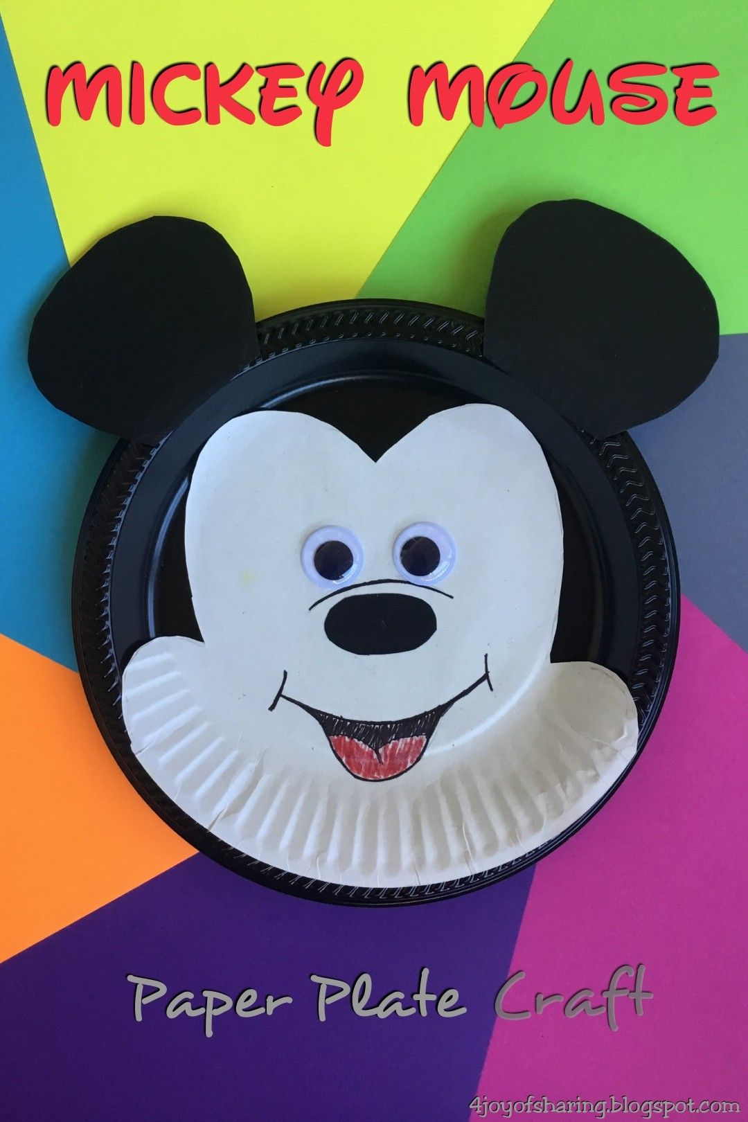 Paper Plate Mickey Mouse