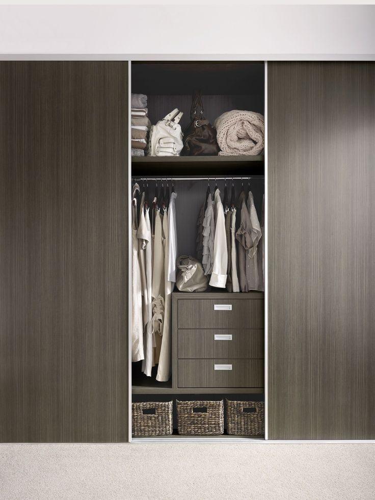 Wardrobe doors and drawers Formica Charred Oak. Bathroom cabinets ...