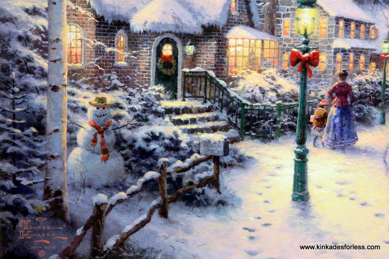 thomas kinkade christmas villages - Google Search | Thomas Kinkade ...