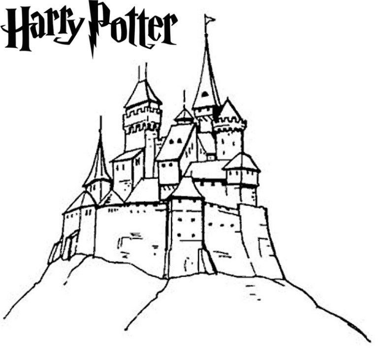 Magnificent Harry Potter Hogwarts Castle Coloring Page Castle Coloring Page Princess Coloring Pages Cartoon Coloring Pages