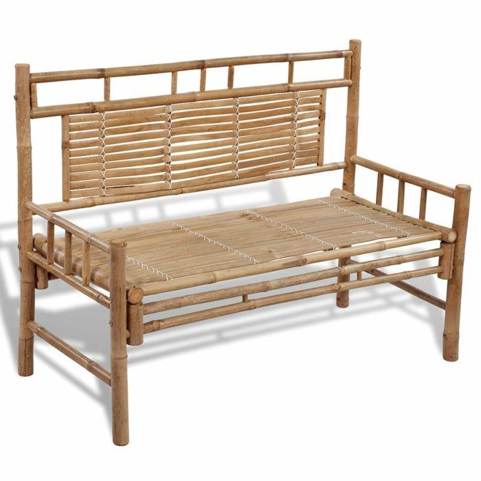 banc de jardin en bambou avec dossier | meubles | Pinterest | Banc ...