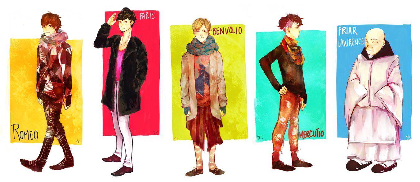 Character Design College Major : Schoolwork romeo juliet costume design pt by euphorics