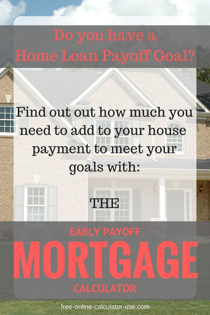 early payoff mortgage calculator to calculate goal payment amount