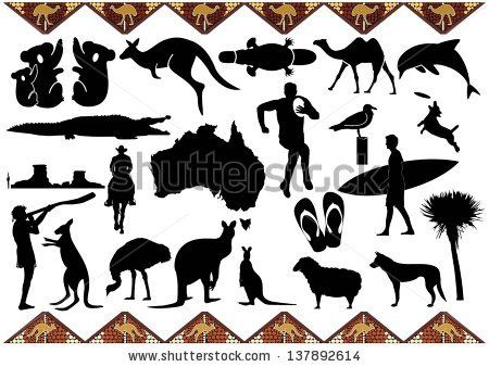 Australia Icons Stock Vector Christmas Pinterest Image