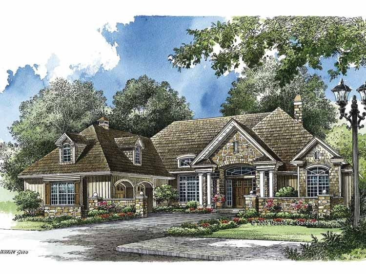 French Country House Plan with 3068 Square Feet and 3 Bedrooms from