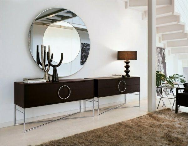 Wandspiegel Modern eleganter wandspiegel rund optischer effekt ideen rund ums haus