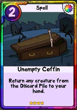 Adventure Time Card Wars - Unempty Coffin Spell Card Adventure - time card