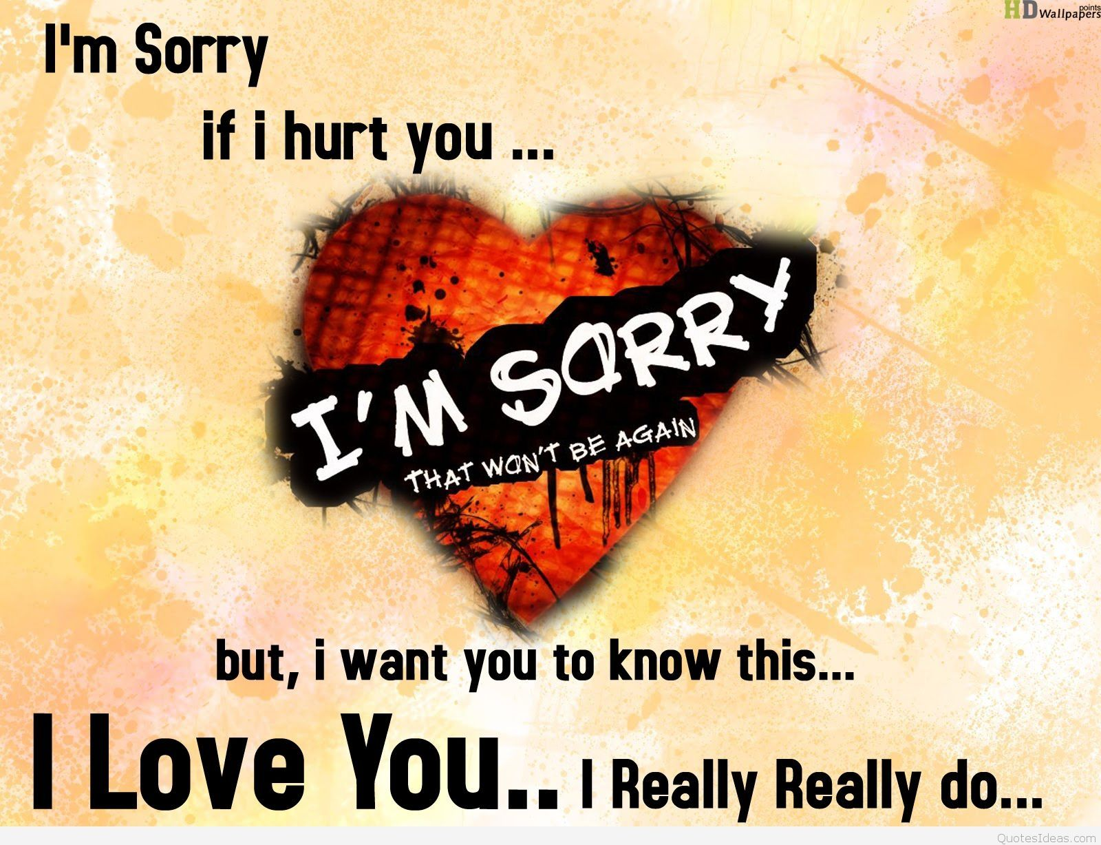 Love · Download Wallpaper of sorry love quotes