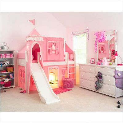 Toddler Girls Bedroom Sets | Matrix Low Loft Castle Bed For Girls ...