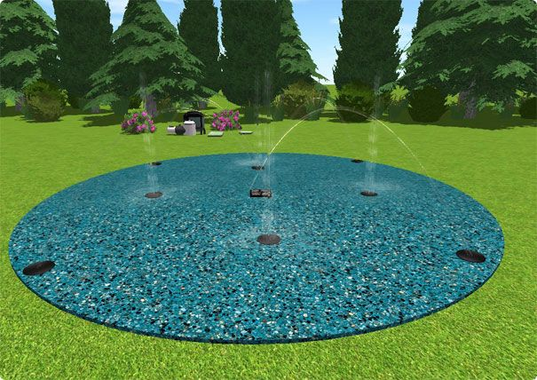 splash pad on pinterest backyard splash pad spool pool