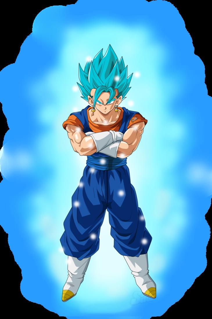 Vegito Blue Aura Super Saiyan Blue Dragon Ball Art