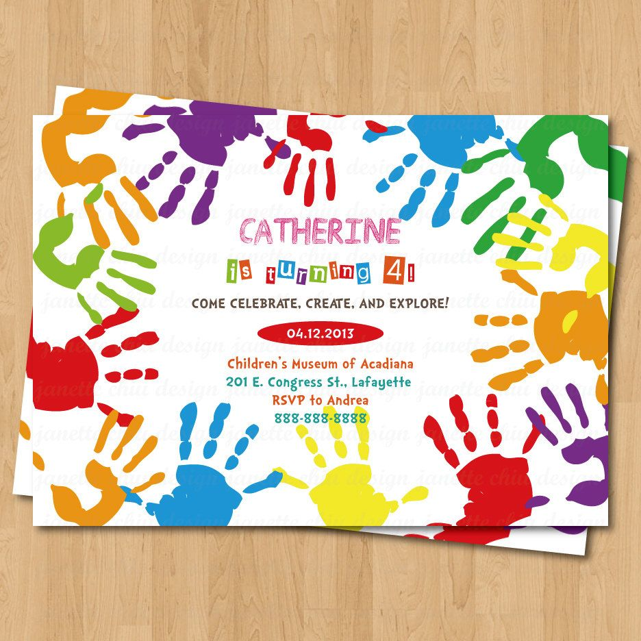 like this invite wording and simple design | Street Painting ...