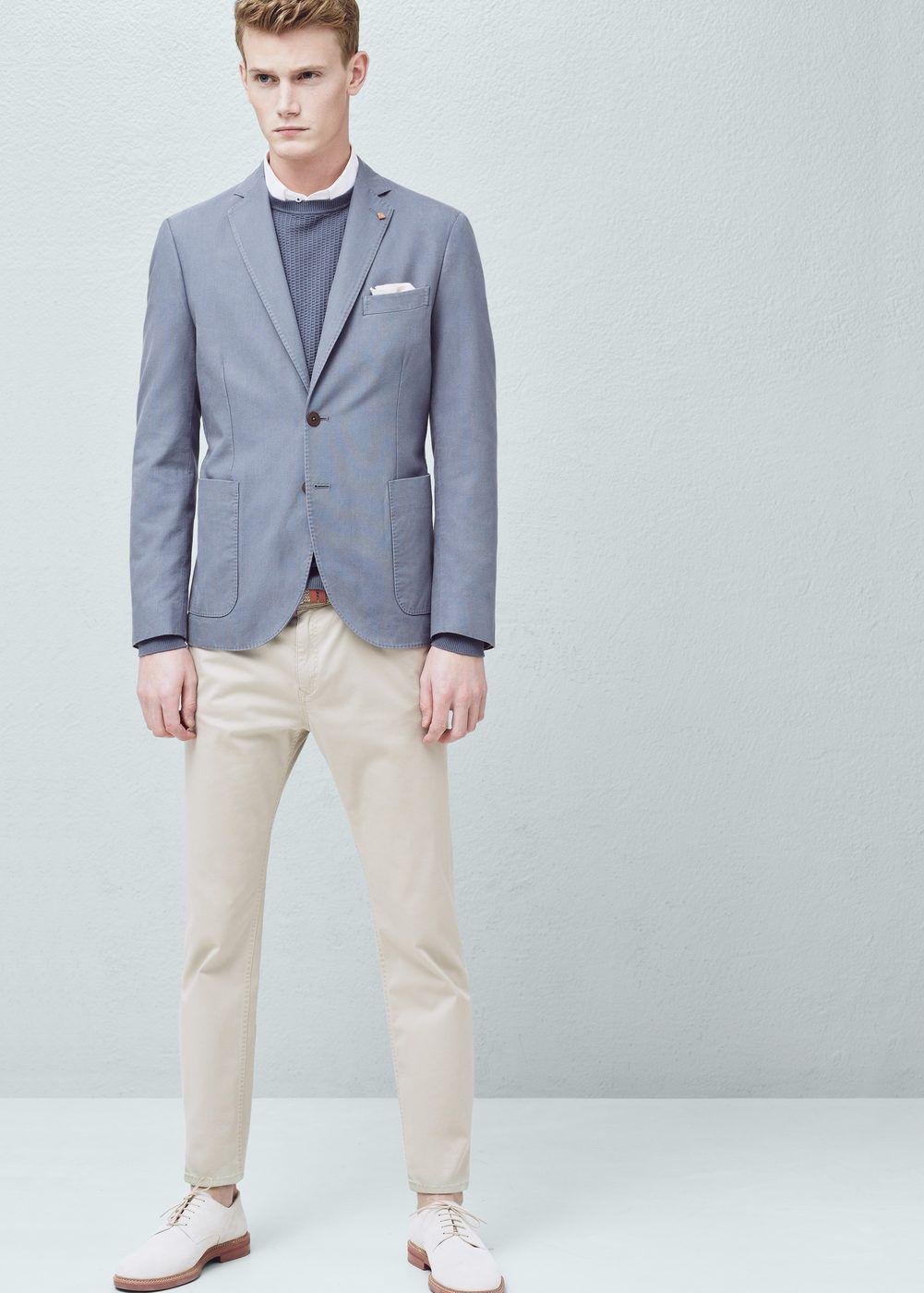 Blazer slim-fit algodão -  Homem | MANGO