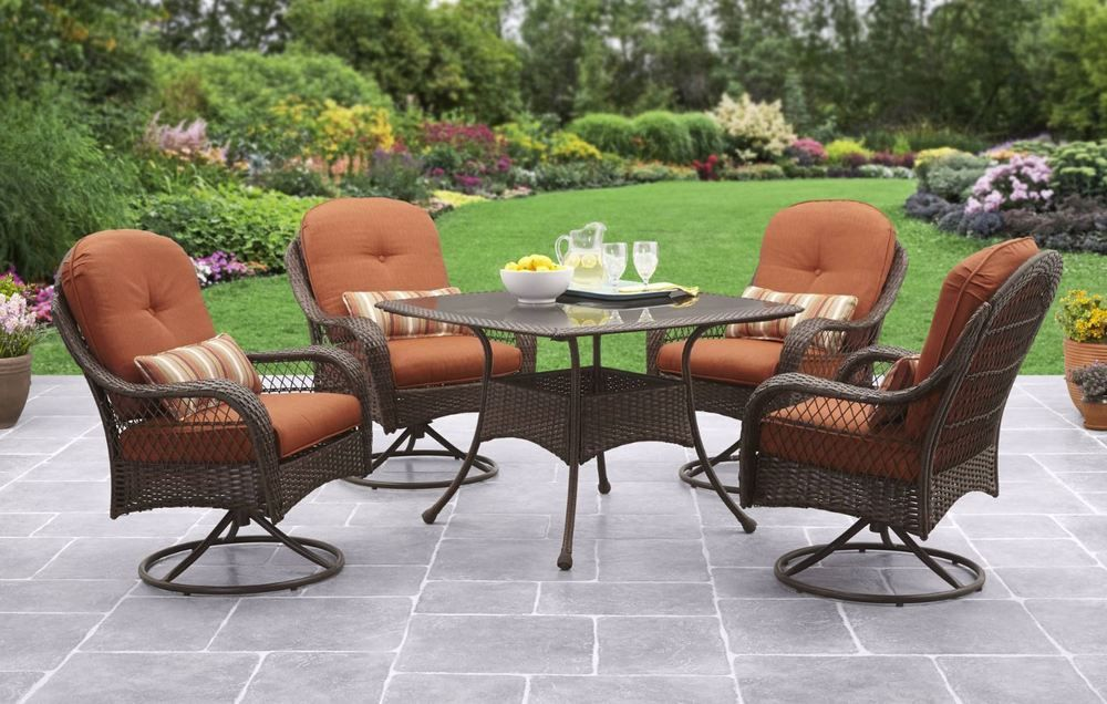 patio table and chairs clearance red bar dining sets furniture 5 piece outdoor wicker swivel 699 99 end date sunday sep 30 2018 0 49 04 pdt buy it