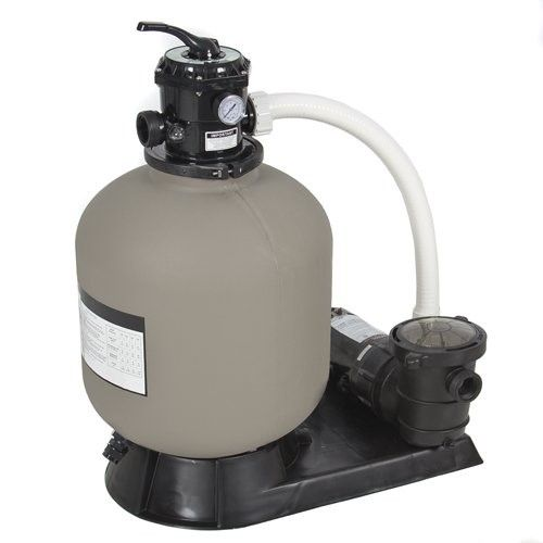 Best Choice Products Pro Above Ground Swimming Pool Pump System 4500gph 19 Sand Filter W 1 0hp Grey Above Ground Pool Pumps Pool Pump Pool Sand