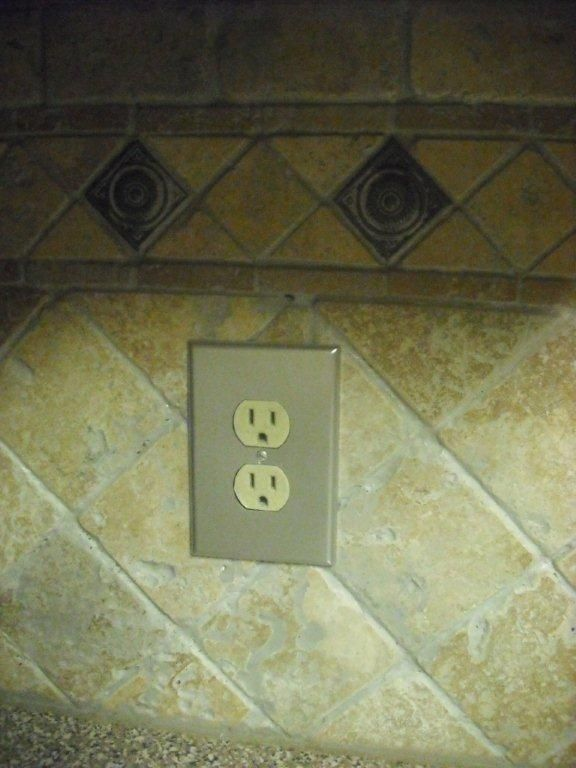 Spray Paint Your Plastic Outlet Covers In Kitchen To Make Them Look Like Stainless Steel Let Dry Well Enjoy A High End