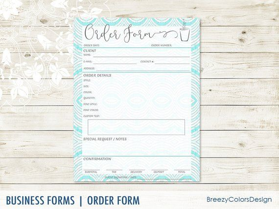 tumbler order form template sales ordering sheet client sales