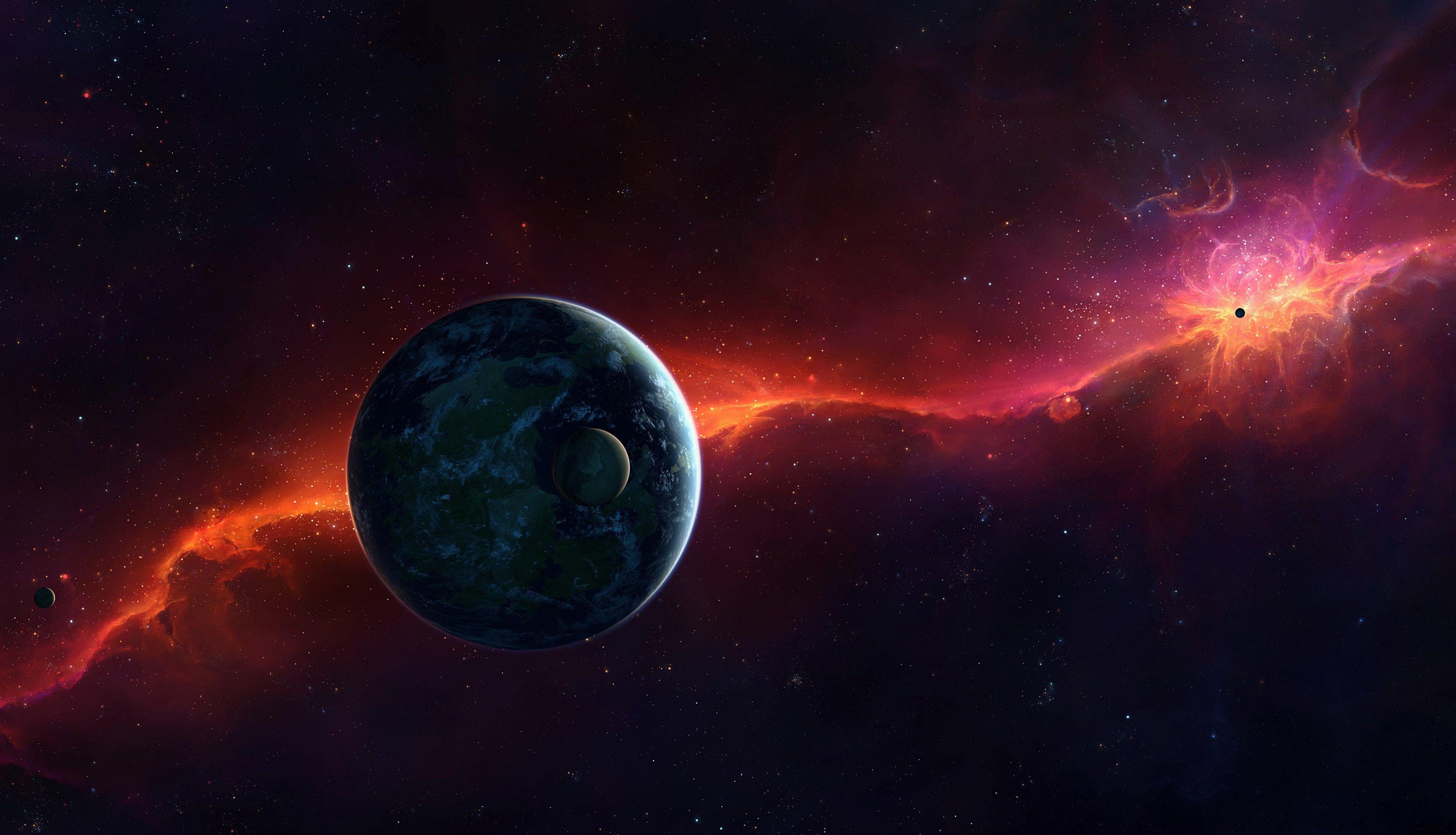 3840x2202 Planets 4k Wallpaper Image Hd In 2020 Sci Fi Wallpaper Wallpaper Images Hd Nebula Wallpaper