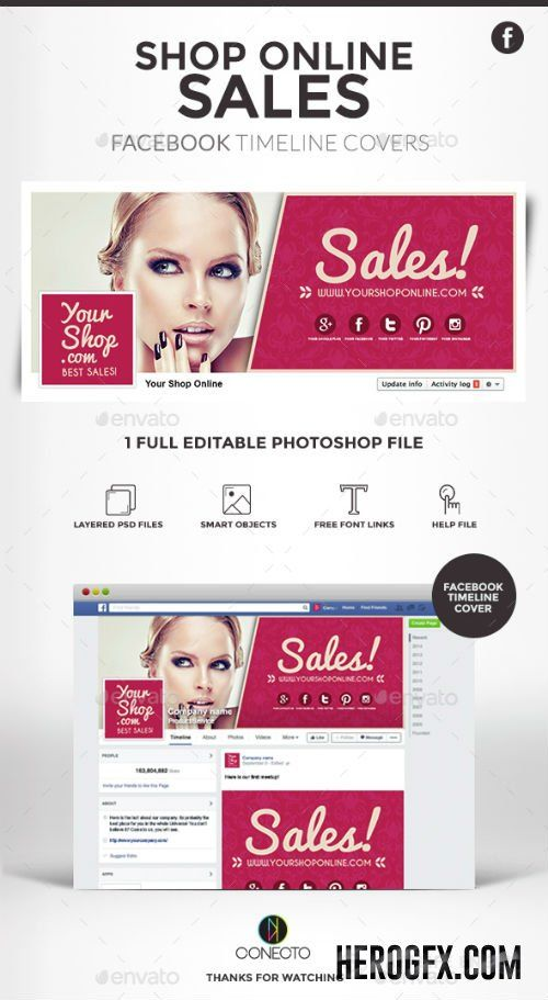 Facebook Timeline Covers - Shop Online Sales 14872393 Flyer - advertising timeline template