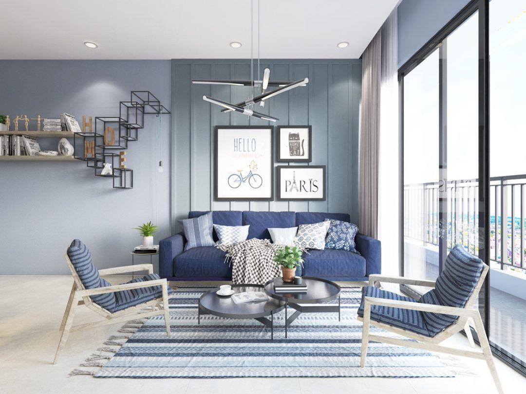 Blue Living Room Ideas  Wohnzimmer design, Blue lounge und