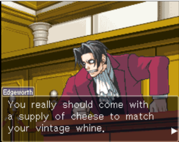 Edgeworth Sets It Straight Phoenix Wright Ace Attorney In 2021 Phoenix Wright Ace Apollo Justice