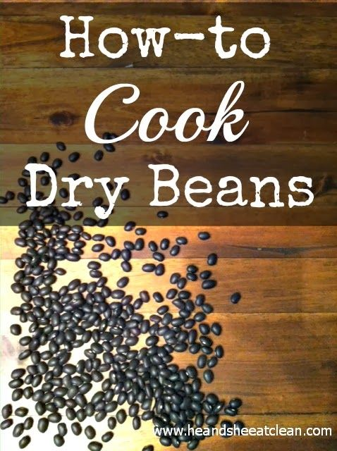 Not sure how to cook with dry beans? This website will tell you how to soak them, cook them and even freeze them! You can make them in batches in your crock pot and save them for later. Read the entire article at heandsheeatclean.com #crockpot #slowcooker #beans #howto