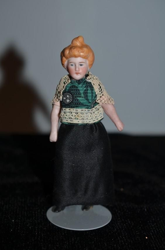 old miniature china head dollhouse lady w bun sweet china rh pinterest com
