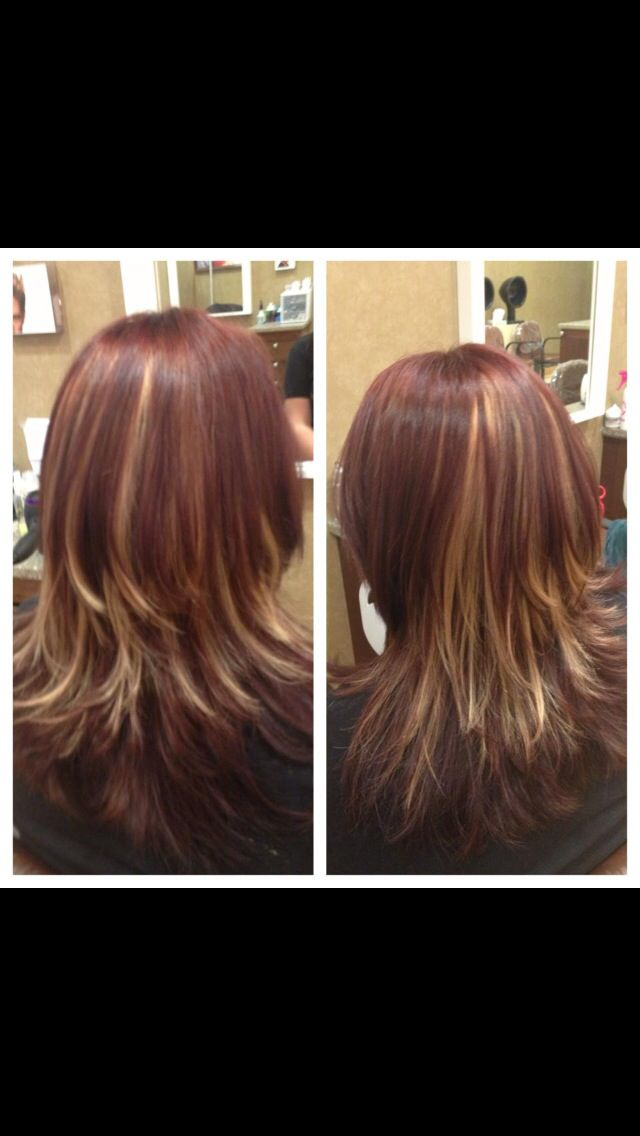 Thick highlights and all over color !!!#hair#haircolor#highlights ...