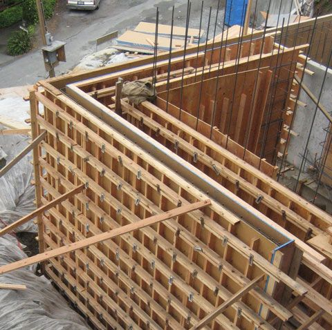 Structure Steel To Concr Home Building In Vancouver Concrete Structure Concrete Formwork Concrete