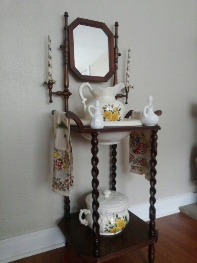 My Complete Wash Basin Stand With Pitcher And Bowl