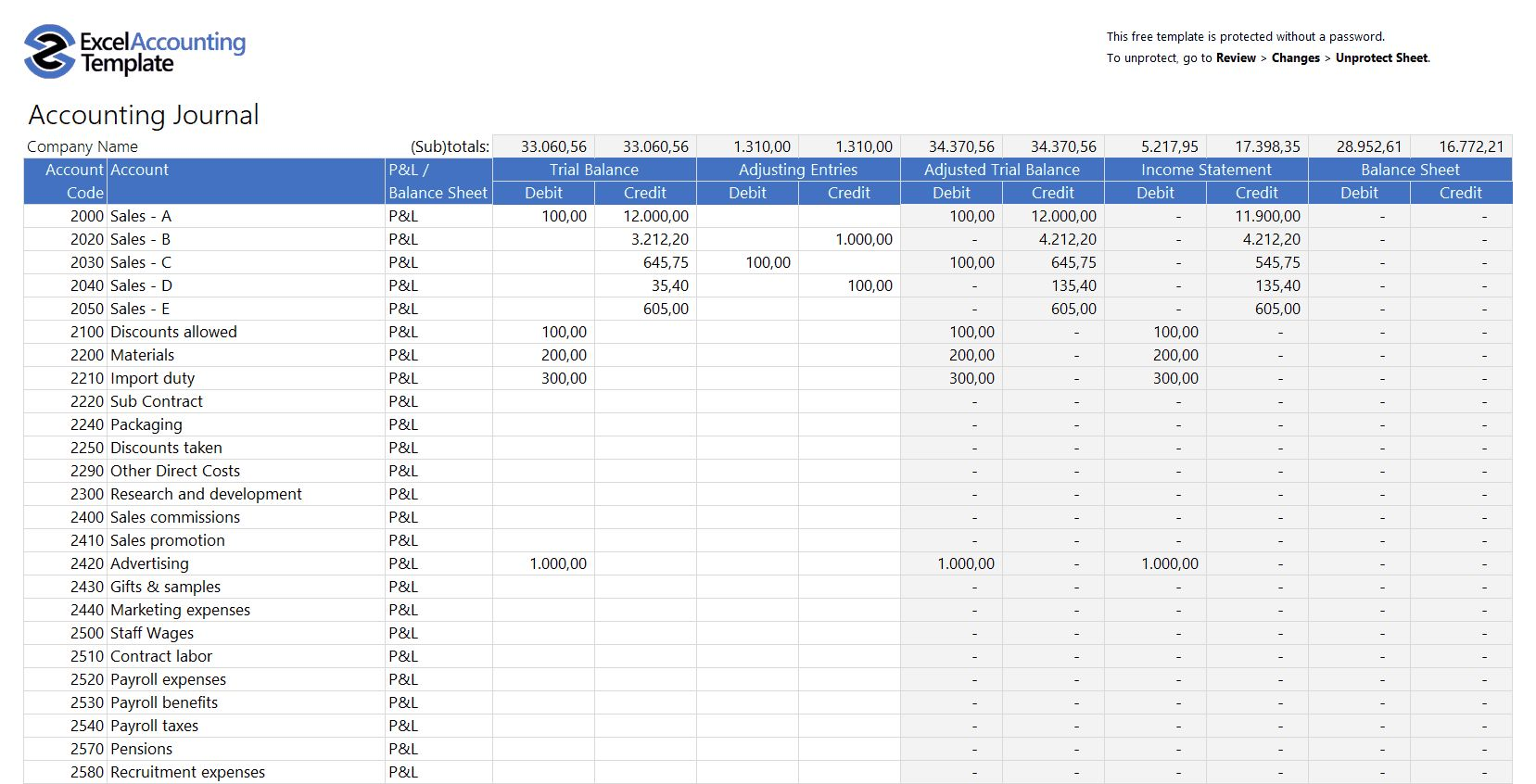Free Accounting Templates In Excel Download For Your Business Within Financial Reporti Spreadsheet Template Balance Sheet Template Small Business Bookkeeping