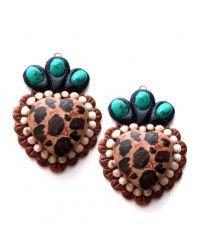 Cheetah Love Earrings by Maverick Rose  $34.95  http://www.giddyupglamouronline.com/catalog.php?item=6685
