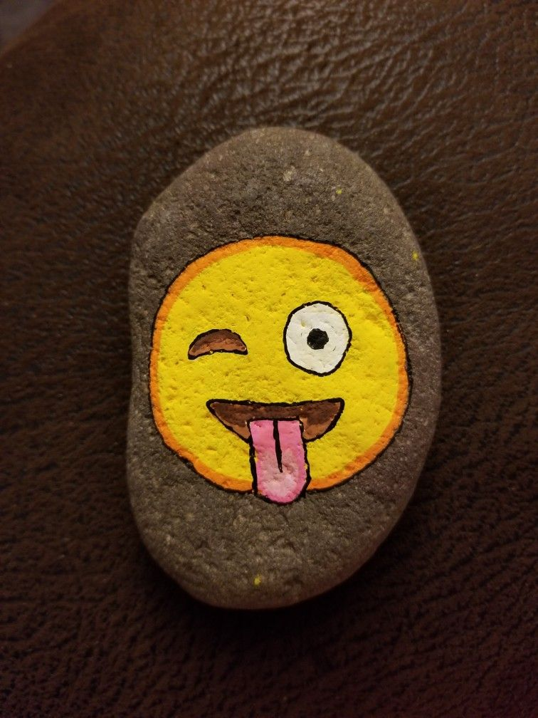 #korbysrocks Emoji Painted Rock
