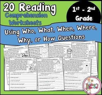 Reading Comprehension Worksheets | Comprehension worksheets, Reading ...