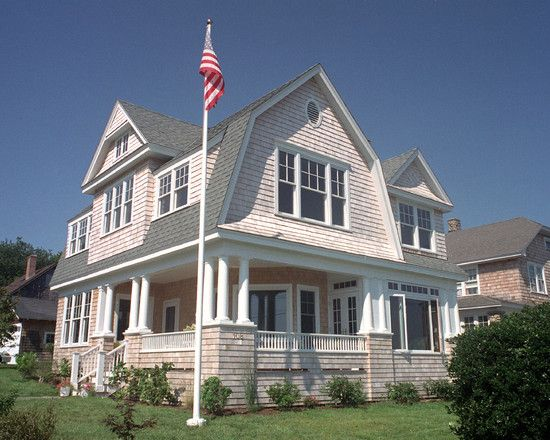 Exterior Nantucket Shingle Style Coastal Design Dutch Colonial Homes Gambrel Roof Shingle House