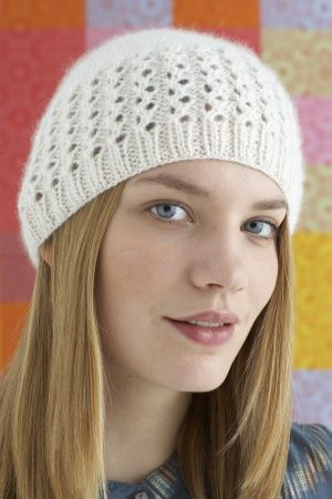 Knitting Pattern: Lovely Lace Cap SKILL LEVEL: Easy SIZE: One Size ...