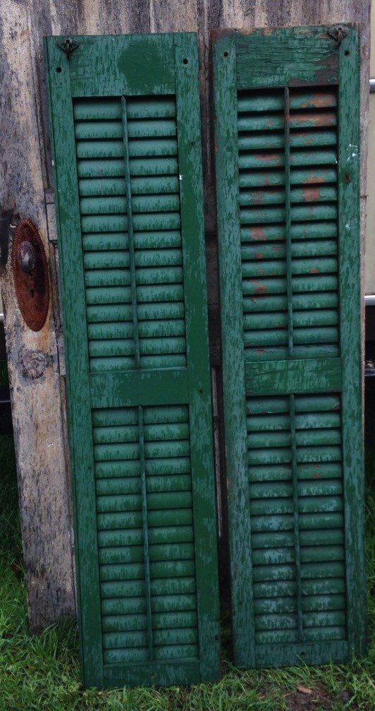 A personal favorite from my Etsy shop https://www.etsy.com/listing/232362931/vintage-wood-shutters